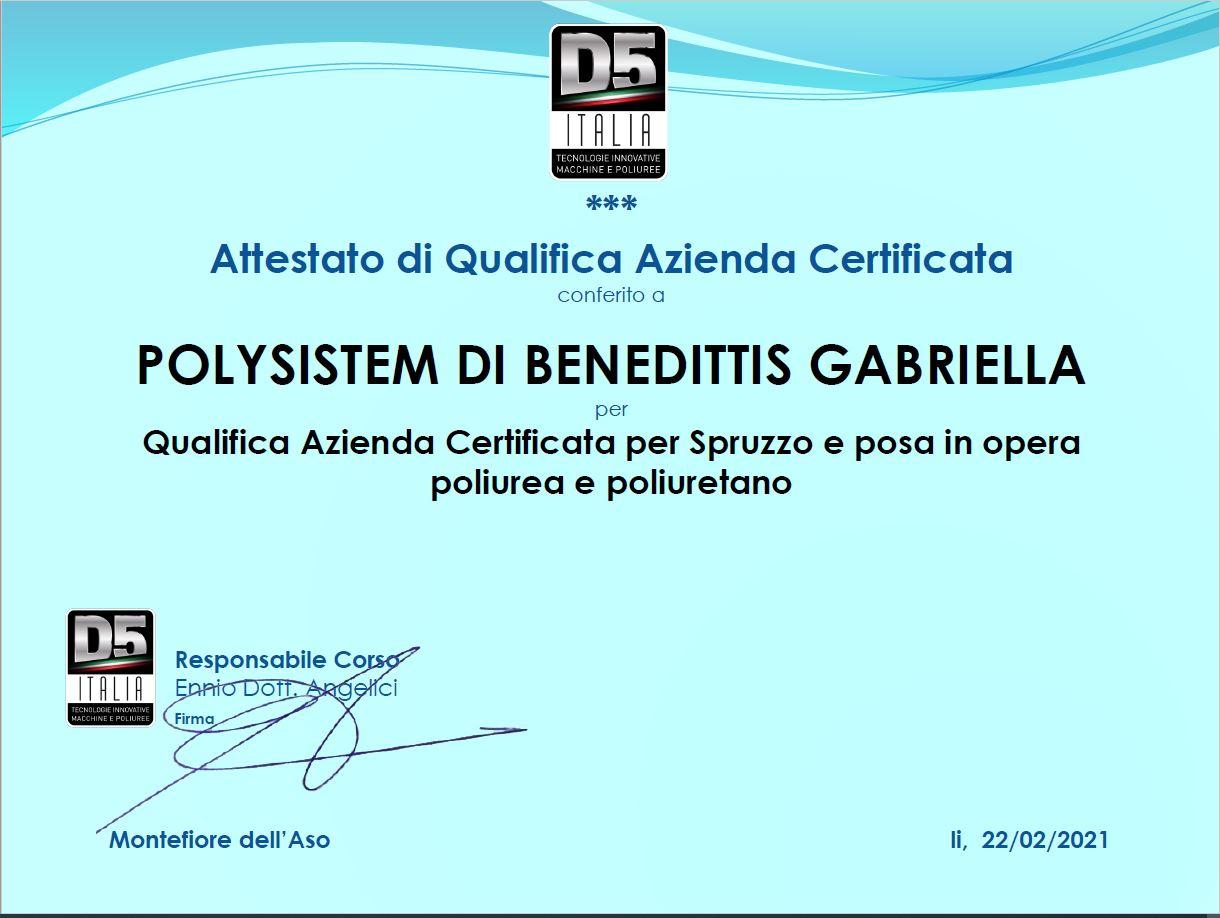 Attestato di qualifica Azienda Certificata